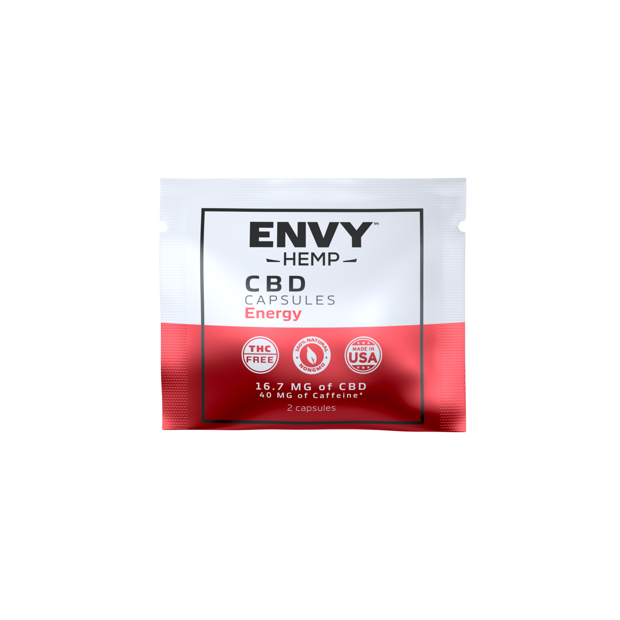 Envy Hemp, Energy Capsules with 500mg CBD (30-day supply)