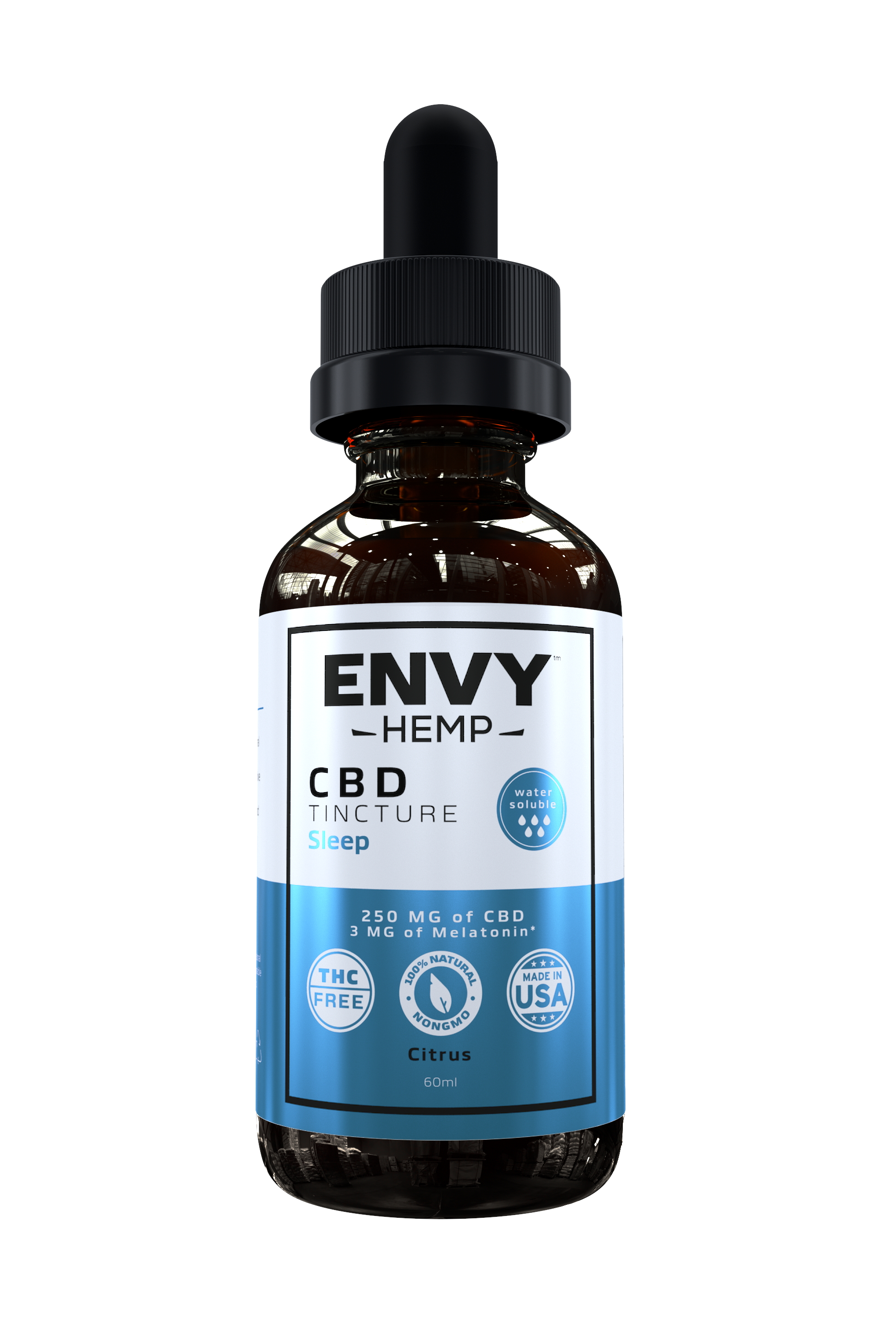 Envy Hemp, Water-Soluble Sleep Tincture With 250mg CBD (60mL)